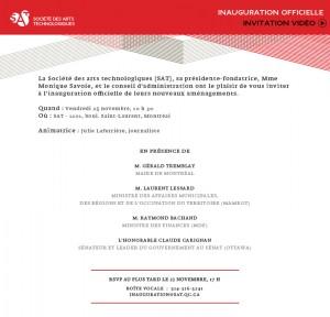 Invitation inauguration SAT